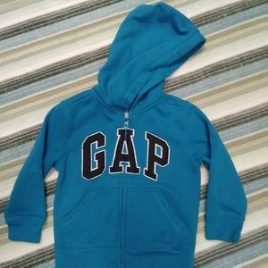 GAP logo zip-up sweater! Unisex Sz 4 !